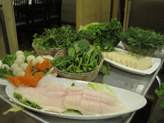 Рибено филе със зеленчуци