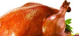 Новогодишна пуйка, пълнена с кайма