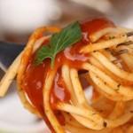спагети с кайма