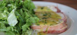 Кулинарна рецепта за приготвяне на терини с пилешко, бекон и топено сирене